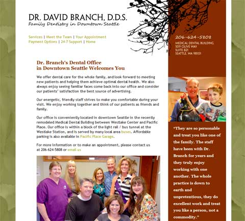Dr David Branch home page